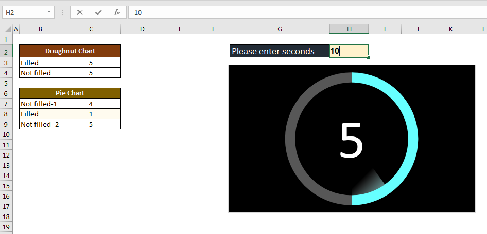 Animated Countdown Timer in Excel - TheDataLabs