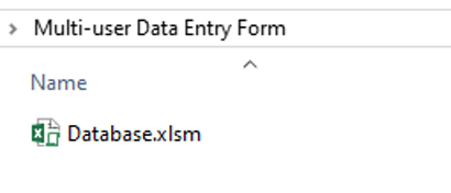 Create Database File