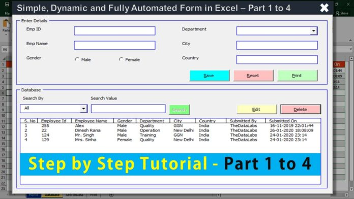 Fully Automated Data Entry Form In Excel