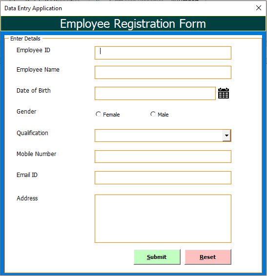 Data Entry Application