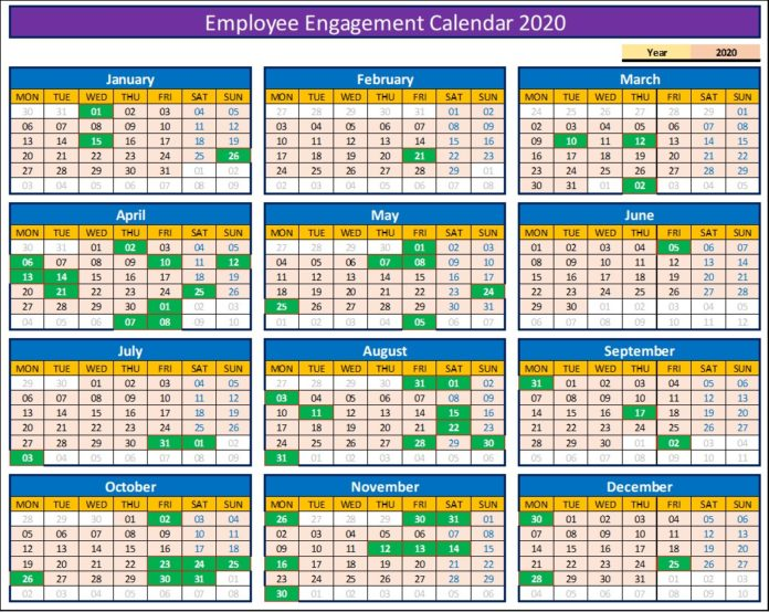 Employee Engagement Calendar